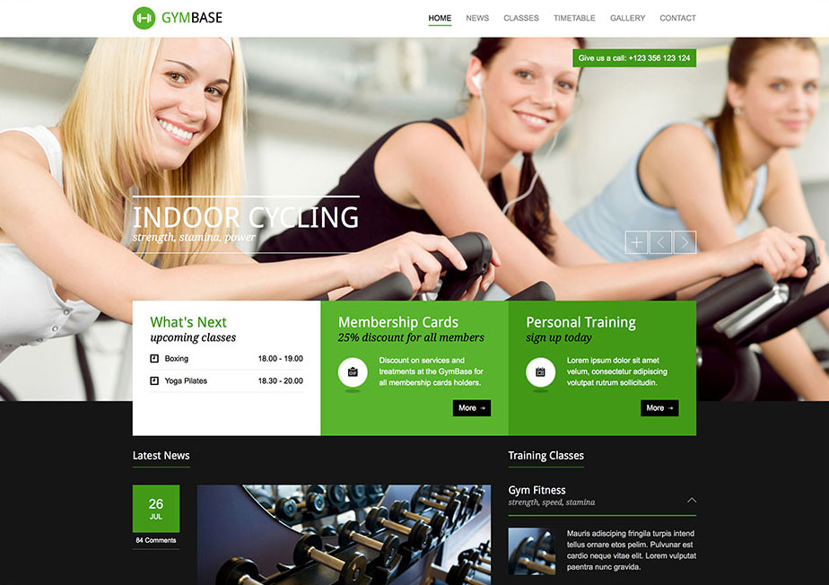 GymBase Fitness/Gym WordPress Theme