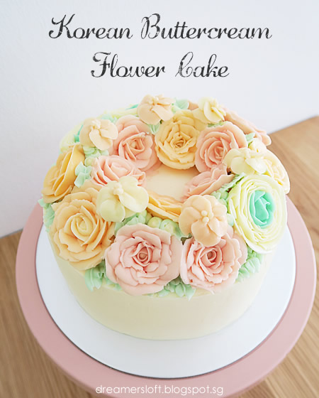 Megs pastry studio korean buttercream flower cake i couldnt remember did the korean buttercream flower cake craze start last year or the year before i always marveled at how pretty the cakes look mightylinksfo
