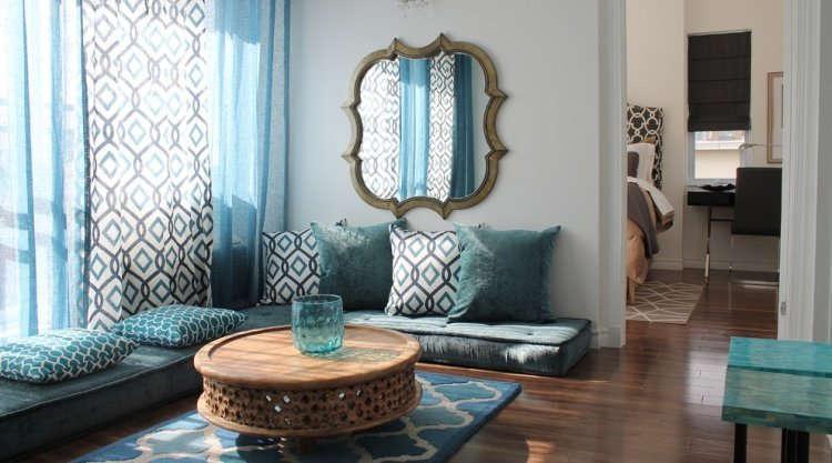 Warna Cat Ruang Tamu Lesehan Sederhana