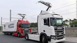 Scania, Volkswagen Dan Siemen Test Jalan Truck Listrik Dengan Pantograf Di Jerman