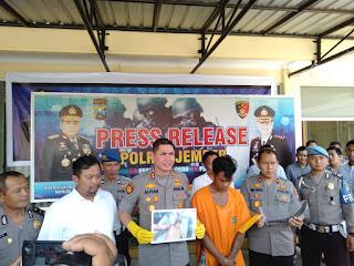 Polisi Tangkap Pemuda Mabuk Penebas Tangan Warga Mojosari