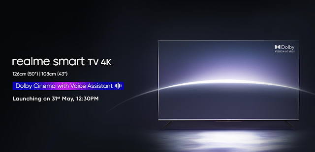Realme Smart TV 4K Launching on 31st May along with Realme X7 Max 5G | TechNeg