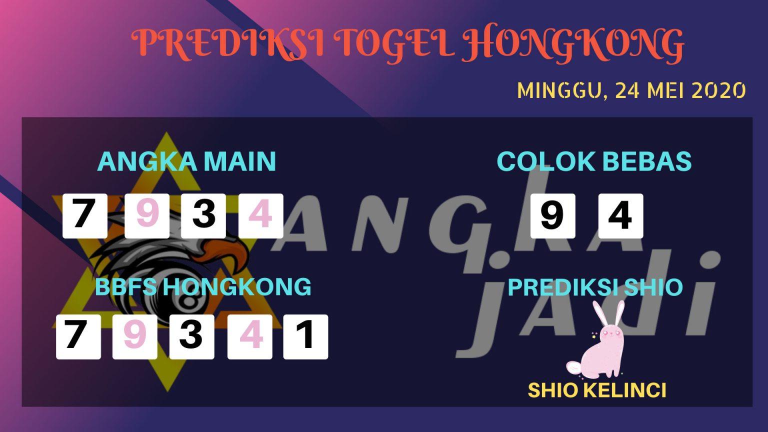 Prediksi HK Minggu 24 Mei 2020 - Bocoran Angka