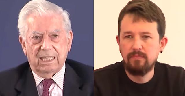 Vargas Llosa y Pablo Iglesias