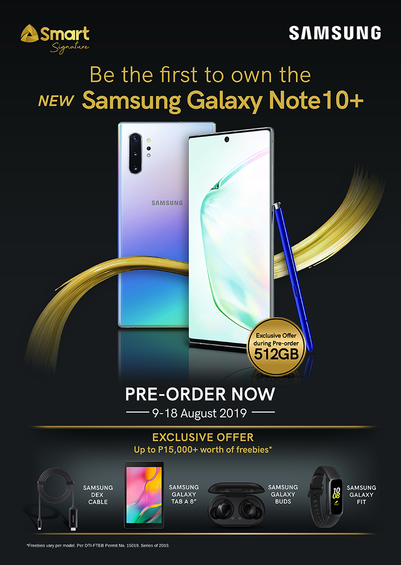 Smart offers the Samsung Galaxy Note10 with freebies worth up to PHP 15K!