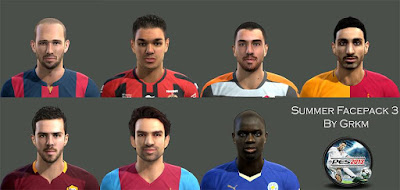 PES 2013 Summer Facepack 3 by Grkm