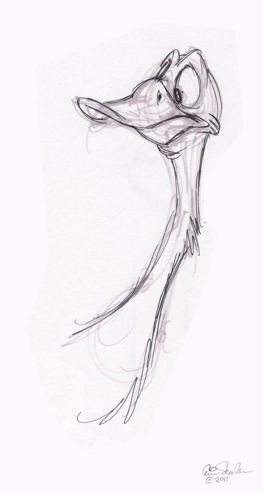 The Ol' Sketchbook: Goofy Geese