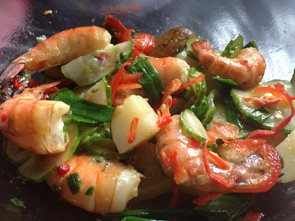 Chilli and Lime King Prawn Salad [Healthy Food]