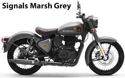 Royal Enfield Classic 350 Signals Marsh Grey.