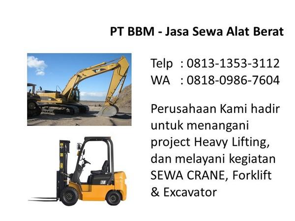 penyewaan excavator bandung dan jakarta