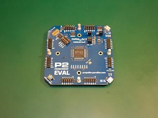 """Placa de desenvolvimento """"P2 Eval"""", revisão B."""