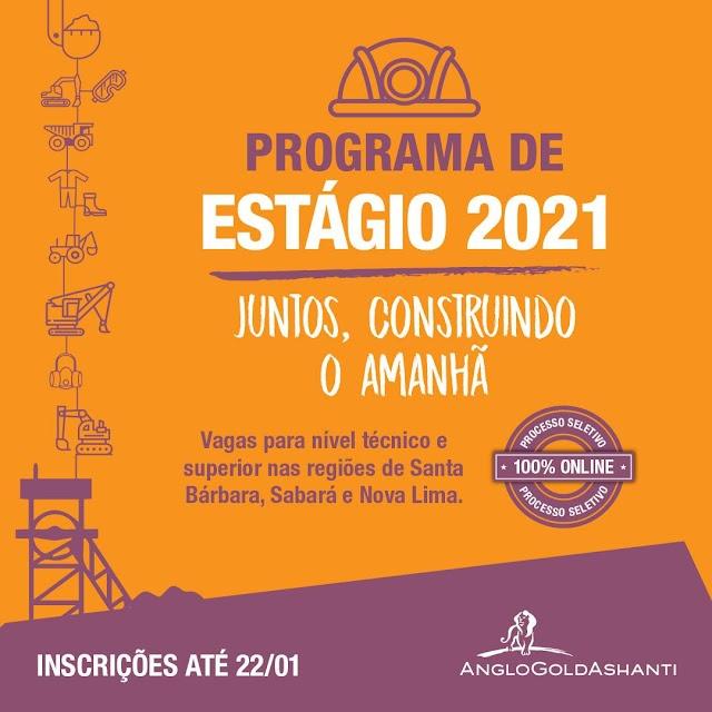 Empresa de mineração disponibiliza vagas de estágio para Goiás e Minas