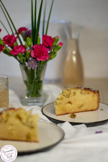 Rezept Rhabarber-Eierlikörkuchen