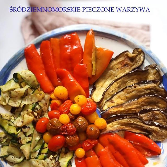 Śródziemnomorskie warzywa pieczone w piekarniku