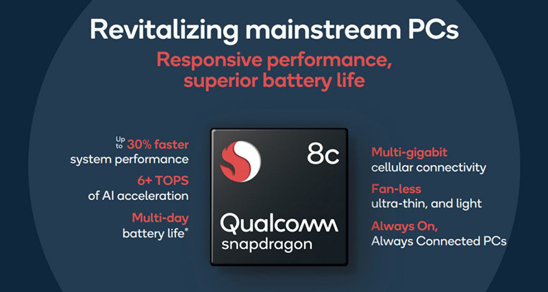 These are the Snapdragon 7c and Snapdragon 8c CPUs