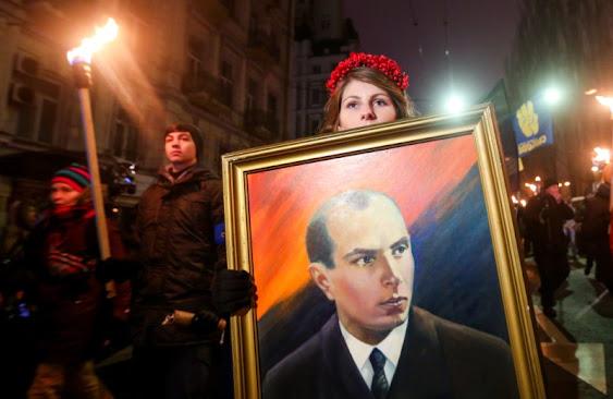 Ukraine fascism Nazi Chicago OUN-B Bandera Ukrainian Americans for Trump