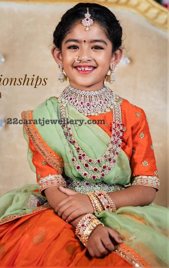 Small Cute Girl in Diamond Jewellery by PMJ