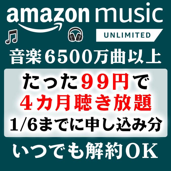 たった99円で4カ月間6500万曲以上聴き放題!最高のLEGO作業BGM【Amazon Music Unlimited】(1/6まで)