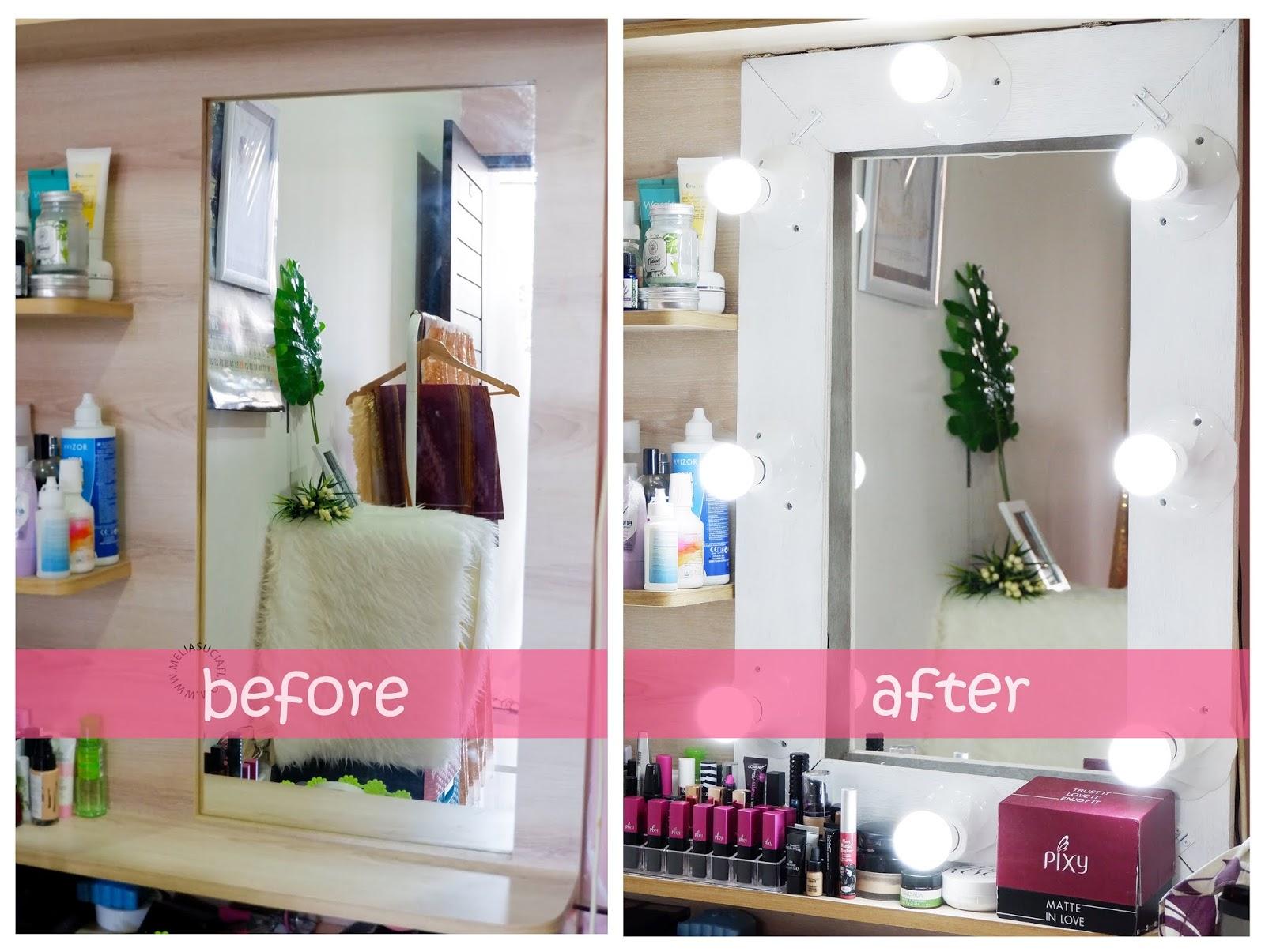 DIY Vanity Mirror Under $15