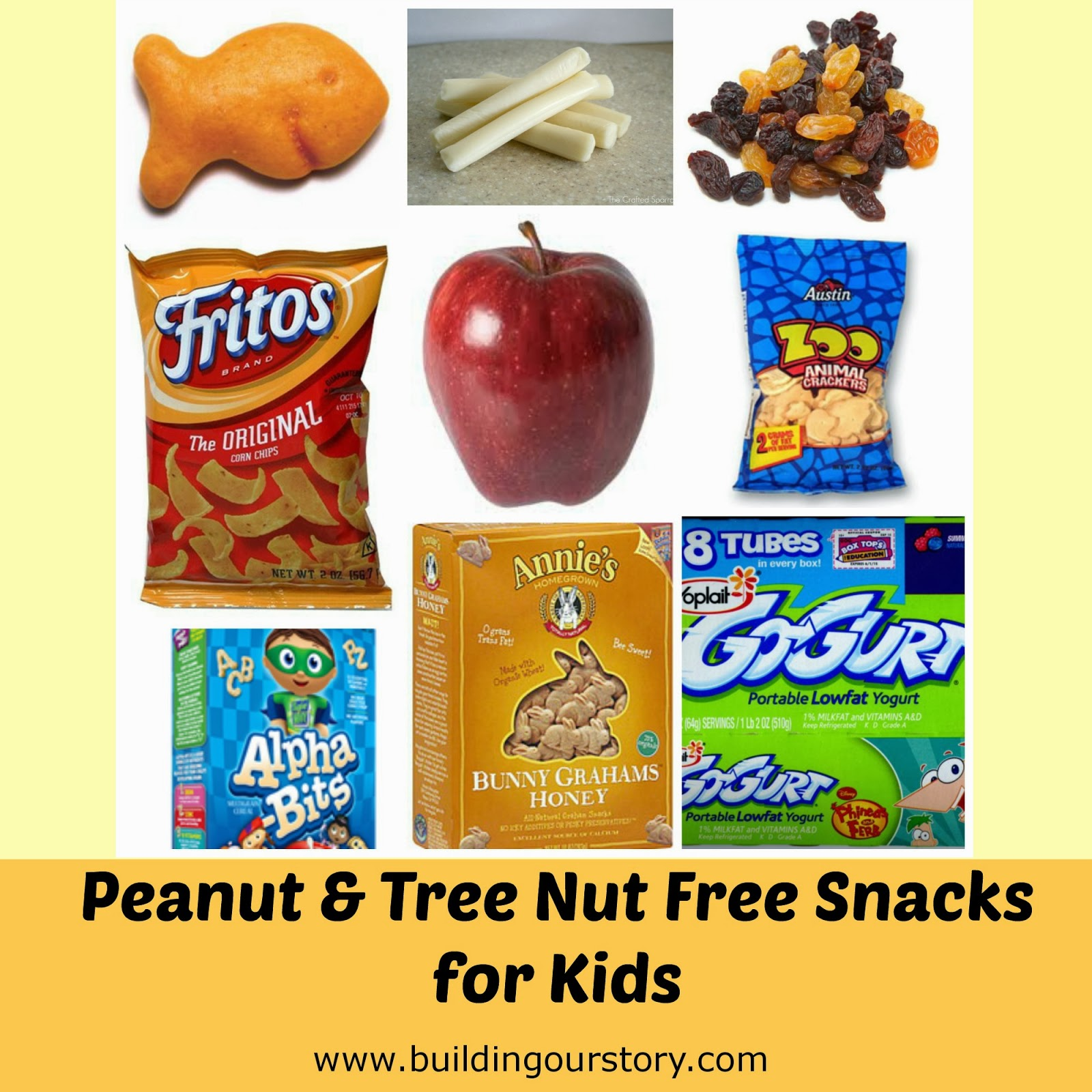 Peanut Free Snack Ideas | Building Our Story