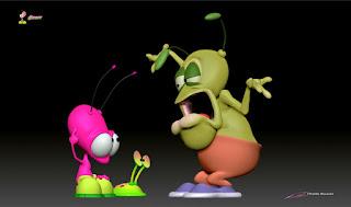 """BLiP"" - Orbit - ""Plutonian_Crazy Talk (Scene #6)"" - Character design, 3D model & BLiP concept art © Pierre Rouzier"