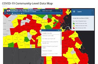COVID-19 Community-Level Data Map