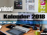 Download Kalender 2018 PDF, JPG, COREL, CDR Gratis