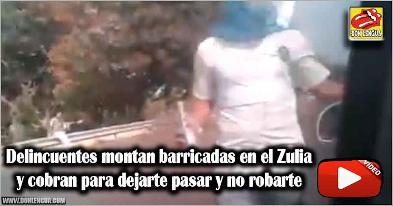 Delincuentes montan barricadas en el Zulia y cobran para dejarte pasar y no robarte