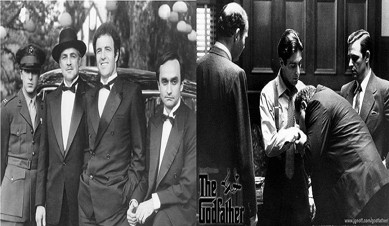 a comparison of the godfather book and movie Sofia coppola, who plays michael corleone's daughter in the godfather part iii, is in this original picture the infant son of connie (talia shire) who's being baptised during the picture's final bloodbathsofia's grandmother (italia) has a bit part and grandfather carmine, composer of the movie's classic music, is the piano player seen in the gang war montage.