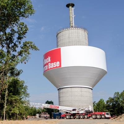 Garver: 3 million-gallon water storage tank elevated