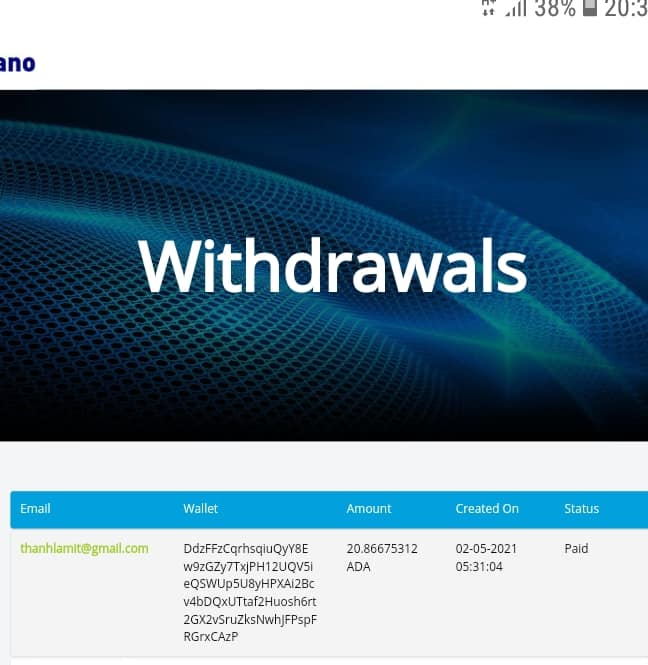 ada withdraw