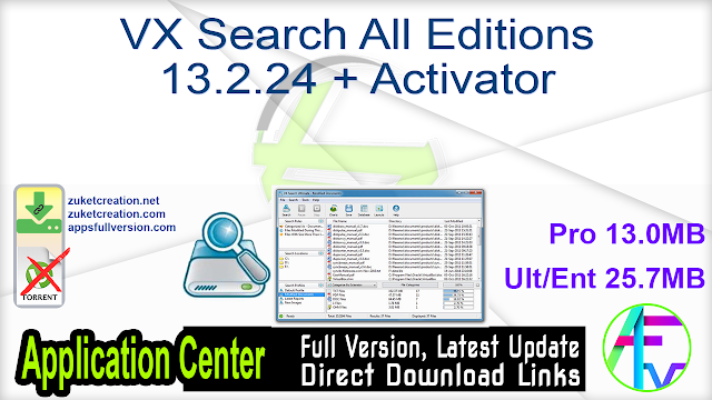VX Search All Editions 13.2.24 + Activator