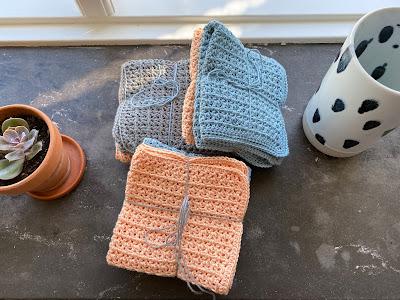 Nem hæklet karklud, opskrift, Dish cloth crochet pattern, easy, V