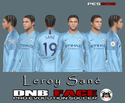 PES 2019 Faces Leroy Sané by DNB