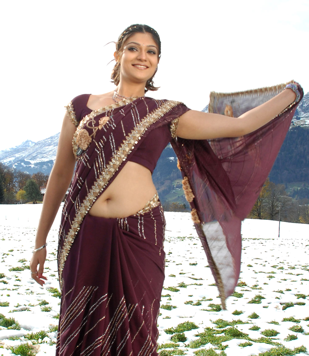 Hottest Navel Ever Siya Gautham Unstoppable In Purple Saree