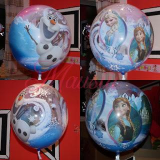 Bubble-Ballon con allen Seiten