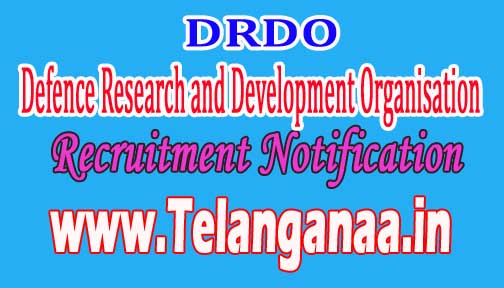 DRDO (Defence Research and Development Organisation) Recruitment Notification 2016