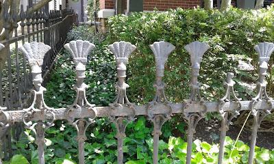 fences in German Village area of Columbus, Ohio