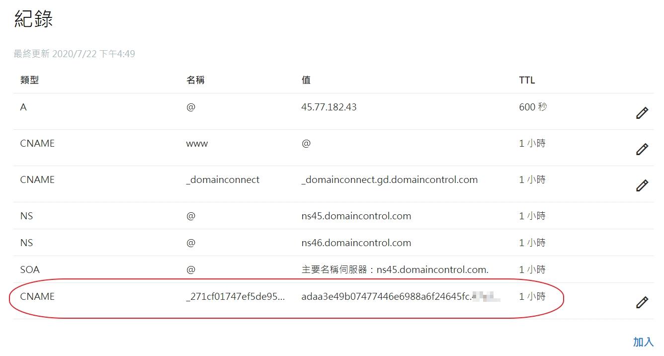 「SSL for Free」使用DNS(CNAME)驗證的方法 - IT大叔