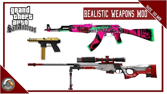GTA San Andreas Realistic Weapons Mod