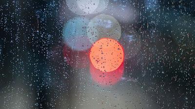HD Wallpaper Liquid, Blur, Glass, Drops, Bokeh, Macro