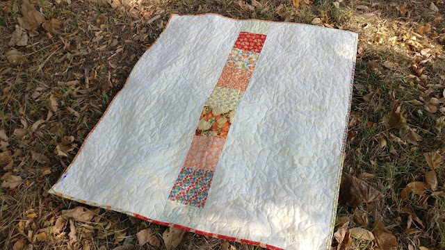 Simple pieced quilt back