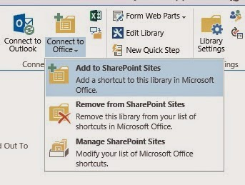 How to Create Shortcut in SharePoint 2013 Library for Saving Files ?