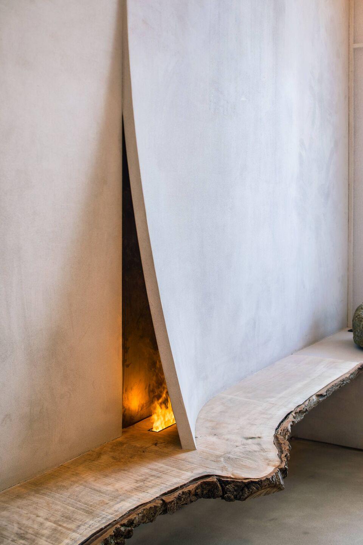 ilaria fatone - A Comforting Wabi-Sabi Space - fireplace