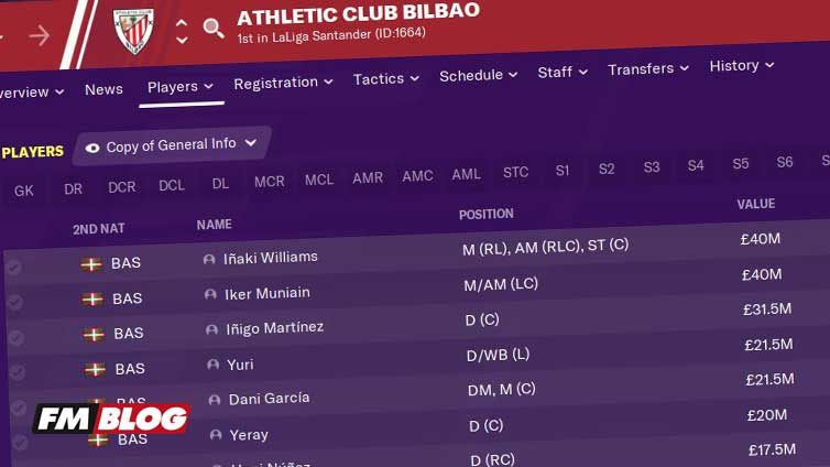 Athletic Bilbao Challenge Football Manager 2021
