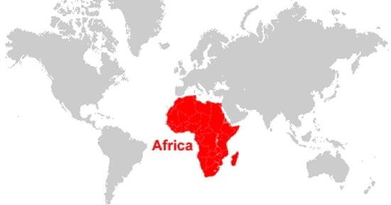 Peta Benua Afrika Lengkap Dengan Negara Batas Wilayah Sumber Daya Alam Dan Keterangan Gambar Lainnya Geologinesia