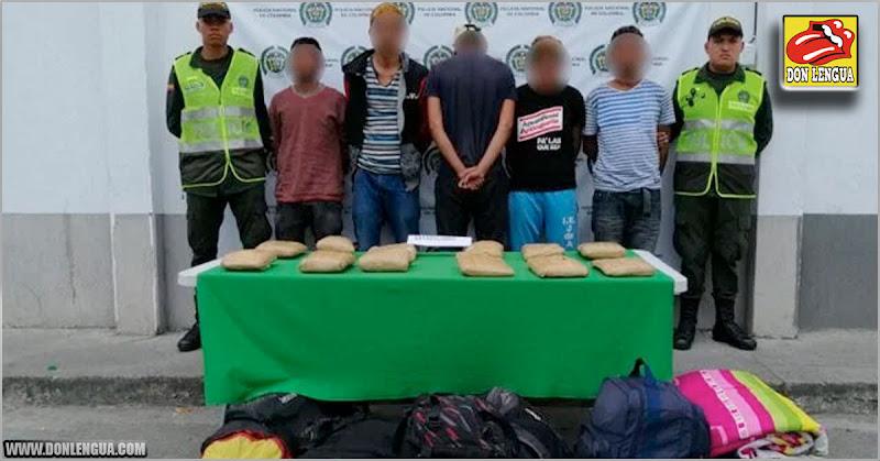 Migrantes venezolanos detenidos con 6 kilos de drogas dentro de sus mochilas