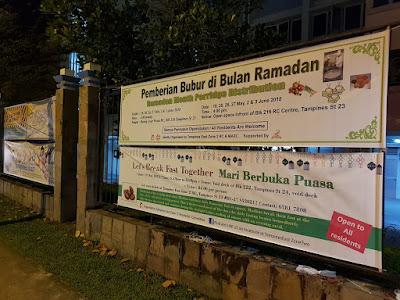 Source: TampinesEast Zone Two Facebook page. Tampines East Zone Two is distributing porridge on three weekends in Ramadhan.
