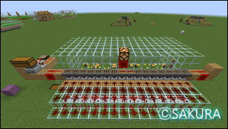 Minecraft 自動採蜜機 大規模養蜂場 ガラス瓶補充の仕組み