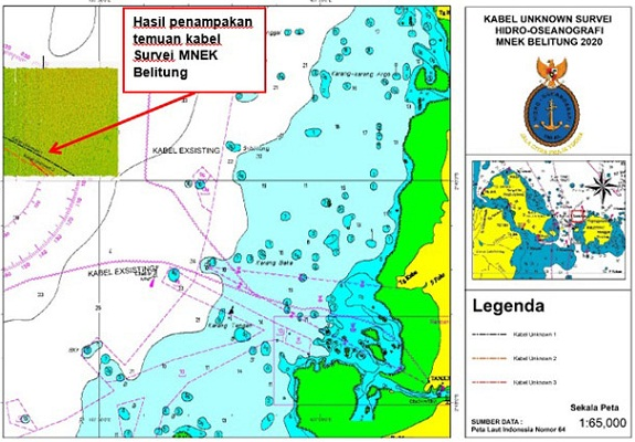 Pushidrosal TNI AL Temukan Kabel Bawah Laut Tak Bertuan Di Selat Gelasa